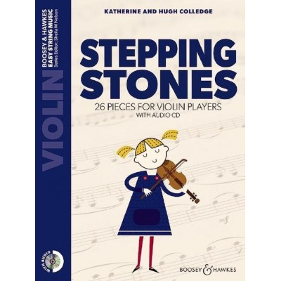 BOOSEY & HAWKES COLLEDGE K. / COLLEDGE H. - STEPPING STONES + CD - VIOLIN