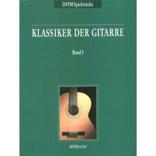 EDITION BREITKOPF KLASSIKER DER GITARRE, BAND 3 - GUITAR