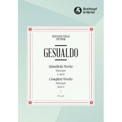 EDITION BREITKOPF GESUALDO - COMPLETE WORKS VOL.VI - MADRIGALS