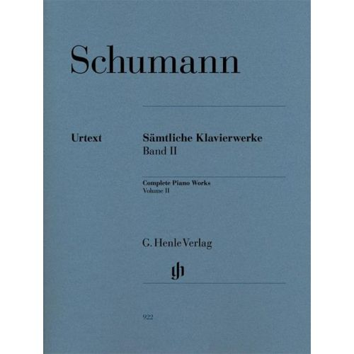 HENLE VERLAG SCHUMANN R. - COMPLETE PIANO WORKS, VOLUME II
