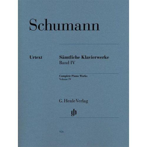 HENLE VERLAG SCHUMANN R. - COMPLETE PIANO WORKS, VOLUME IV