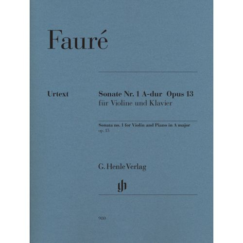 HENLE VERLAG FAURE G. - SONATA OP.1 N°13 - VIOLON & PIANO