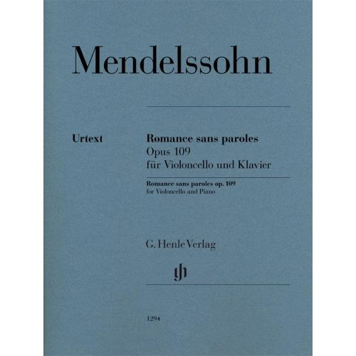 HENLE VERLAG MENDELSSOHN F. - ROMANCE SANS PAROLES OP.109 - VIOLONCELLE & PIANO