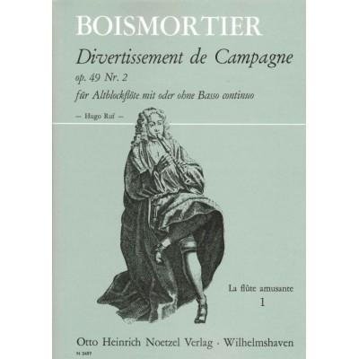 HEINRICHSHOFEN BODIN DE BOISMORTIER J. - DIVERTISSEMENT DE CAMPAGNE VOL.1 - FLÛTE A BEC ALTO (ET BC)