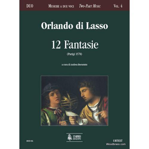 UT ORPHEUS LASSO O. DI - 12 FANTASIE (PARIS 1578)