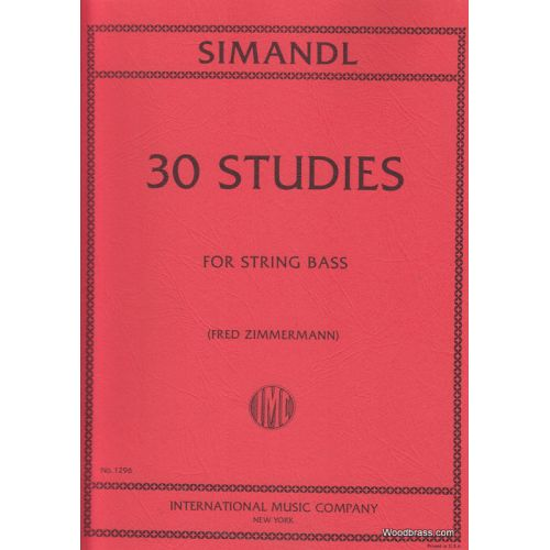 IMC SIMANDL F - 30 STUDIES FOR DEVELOPMENT OF TONE - CONTREBASSE