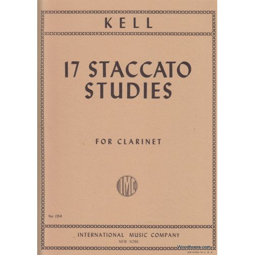 IMC KELL R. - 17 STACCATO STUDIES - CLARINETTE