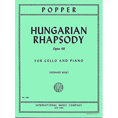 IMC POPPER D. - HUNGARIAN RHAPSODY OP.68 - VIOLONCELLE & PIANO