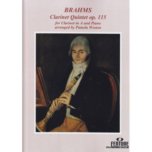 FENTONE MUSIC BRAHMS J. - CLARINET QUINTET OP. 115 - CLARINETTE ET PIANO