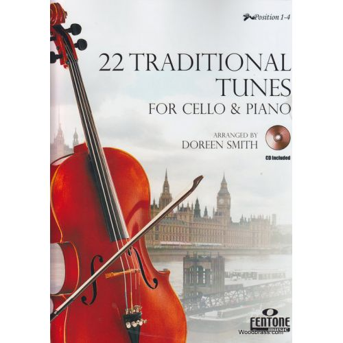 FENTONE MUSIC 22 TRADITIONAL TUNES - VIOLONCELLE ET PIANO + CD
