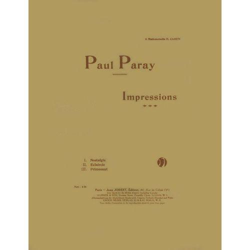 JOBERT PARAY PAUL - IMPRESSIONS - PIANO