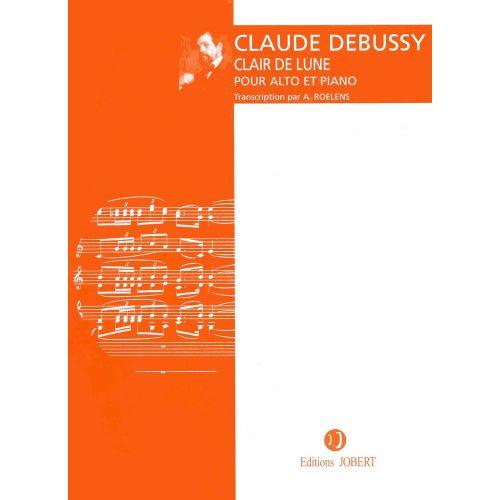 JOBERT DEBUSSY C. - CLAIR DE LUNE - ALTO, PIANO