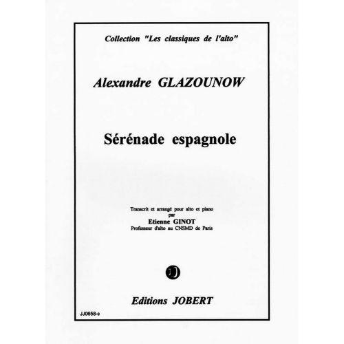 JOBERT GLASUNOW ALEXANDRE - SERENADE ESPAGNOLE - ALTO, PIANO