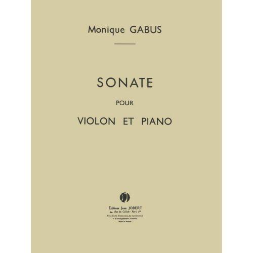 JOBERT GABUS MONIQUE - SONATE - VIOLON, PIANO