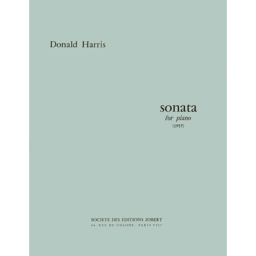 JOBERT HARRIS DONALD - SONATE POUR PIANO - PIANO