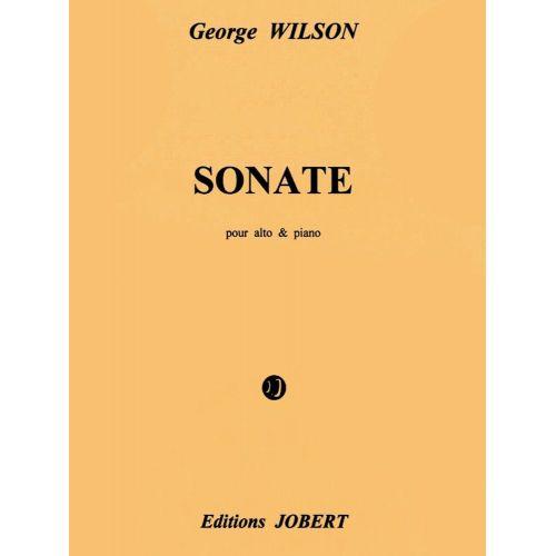 JOBERT WILSON GEORGE - SONATE POUR ALTO ET PIANO - ALTO, PIANO
