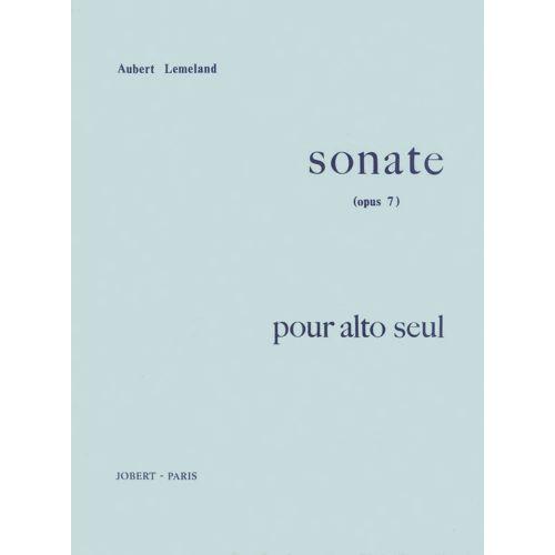 JOBERT LEMELAND AUBERT - SONATE OP.7 POUR ALTO SEUL - ALTO SOLO