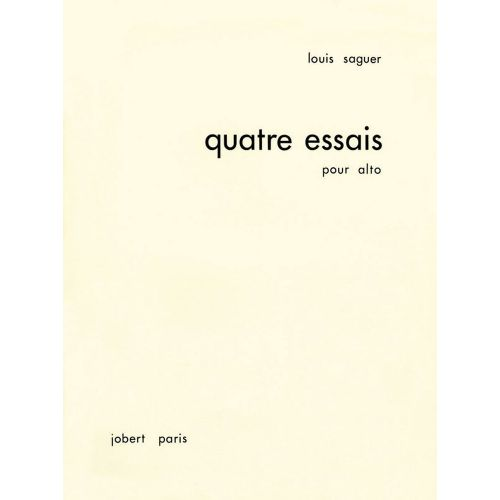 JOBERT SAGUER LOUIS - ESSAIS POUR ALTO (4) - ALTO