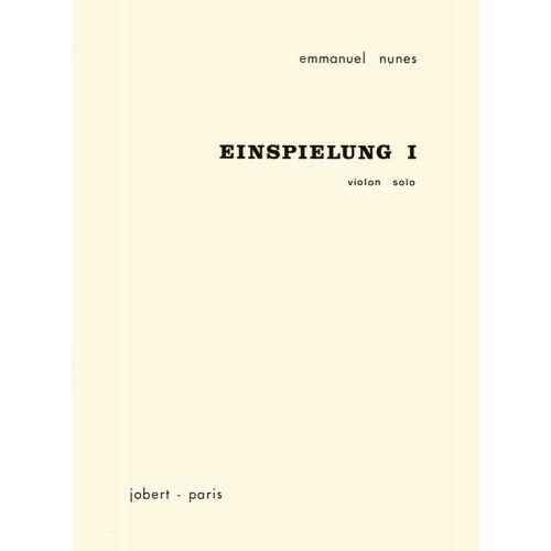 JOBERT NUNES EMMANUEL - EINSPIELUNG I - VIOLON