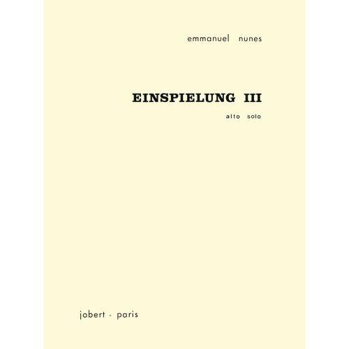 JOBERT NUNES EMMANUEL - EINSPIELUNG III - ALTO