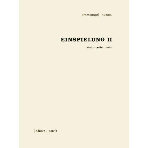 JOBERT NUNES EMMANUEL - EINSPIELUNG II - VIOLONCELLE