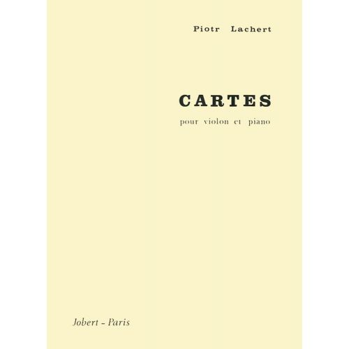 JOBERT LACHERT PIOTR - CARTES - VIOLON, PIANO