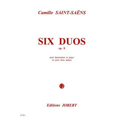 JOBERT SAINT-SAENS C. - DUOS OP.8 (6) - 2 PIANOS OU HARMONIUM, PIANO
