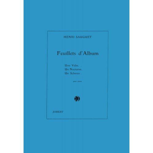 JOBERT SAUGUET HENRI - FEUILLETS D'ALBUM (3) - PIANO