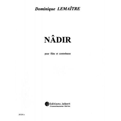 JOBERT LEMAITRE DOMINIQUE - NÂDIR - FLUTE, CONTREBASSE