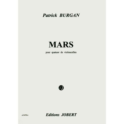 JOBERT BURGAN PATRICK - MARS - 4 VIOLONCELLES