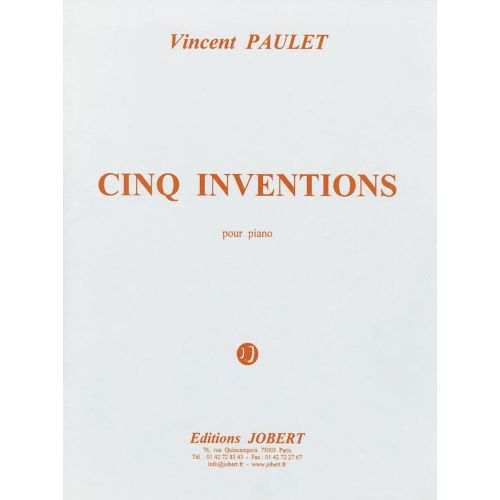 JOBERT PAULET VINCENT - INVENTIONS (5) - PIANO