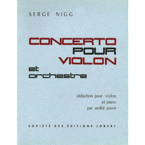 JOBERT NIGG SERGE - CONCERTO POUR VIOLON - VIOLON, PIANO (REDUCTION)