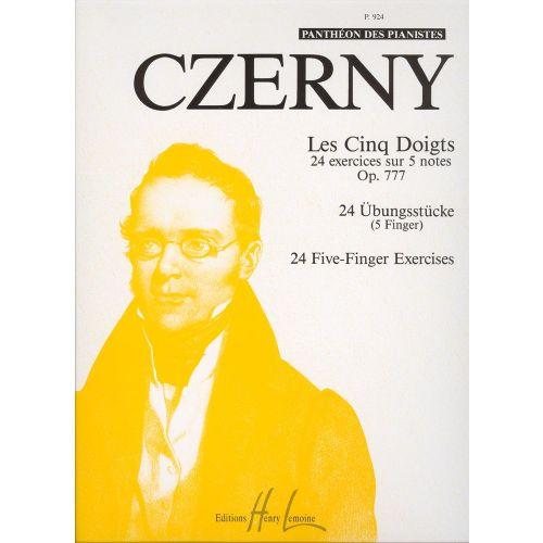 LEMOINE CZERNY CARL - LES 5 DOIGTS OP.777 - PIANO