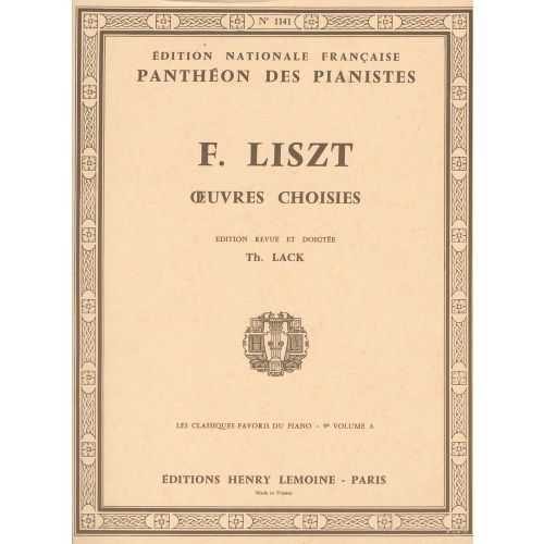 LEMOINE LISZT F. - CLASSIQUES FAVORIS VOL.9A - PIANO