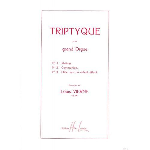 LEMOINE VIERNE LOUIS - TRIPTYQUE OP.58 - ORGUE