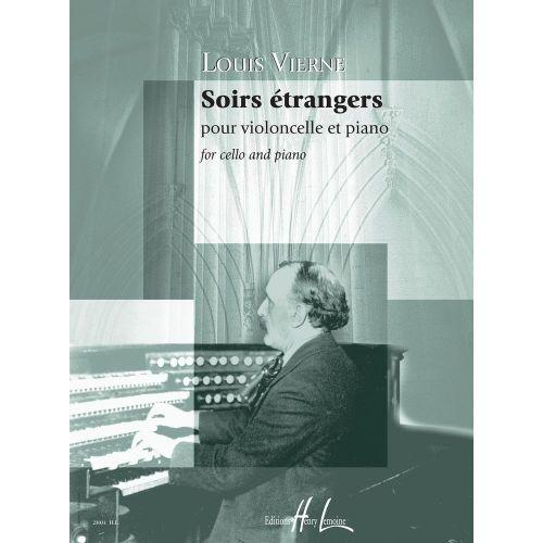 LEMOINE VIERNE LOUIS - SOIRS ETRANGERS OP.56 - VIOLONCELLE, PIANO