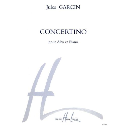 LEMOINE GARCIN JULES - CONCERTINO OP.19 - ALTO, PIANO
