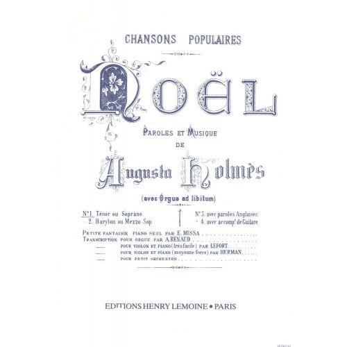LEMOINE HOLMES AUGUSTA - NOEL - VOIX ELEVEE, PIANO