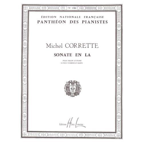 LEMOINE CORRETTE MICHEL - SONATE EN LA MAJ. - VIOLON, PIANO