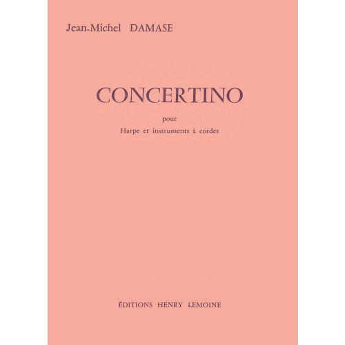 LEMOINE DAMASE JEAN-MICHEL - CONCERTINO POUR HARPE - HARPE, ORCHESTRE A CORDES