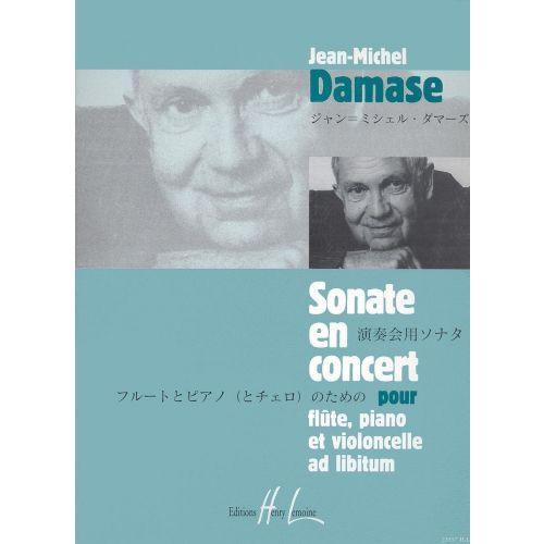 LEMOINE DAMASE JEAN-MICHEL - SONATE EN CONCERT OP.17 - FLUTE, VIOLONCELLE, PIANO