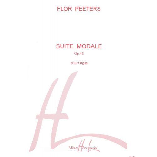 LEMOINE PEETERS FLOR - SUITE MODALE - ORGUE