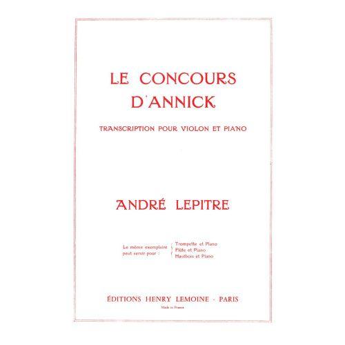LEMOINE LEPITRE ANDRE - CONCOURS D'ANNICK - VIOLON, PIANO