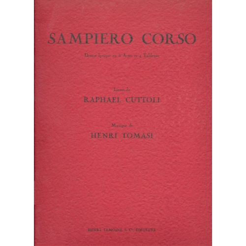 LEMOINE TOMASI HENRI - SAMPIERO CORSO - SAMPIERU CORSU - SOLI, CHOEUR, ORCHESTRE