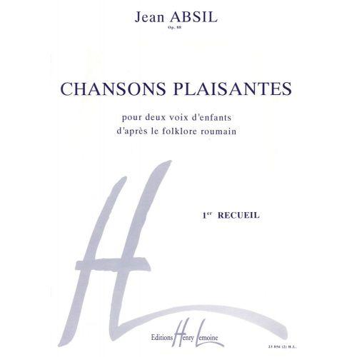 LEMOINE ABSIL JEAN - CHANSONS PLAISANTES VOL.1 OP.88 - CHOEUR D'ENFANTS (2 VOIX), PIANO