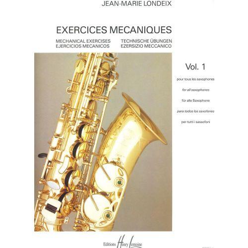 LEMOINE LONDEIX JEAN-MARIE - EXERCICES MÉCANIQUES VOL.1 - SAXOPHONE