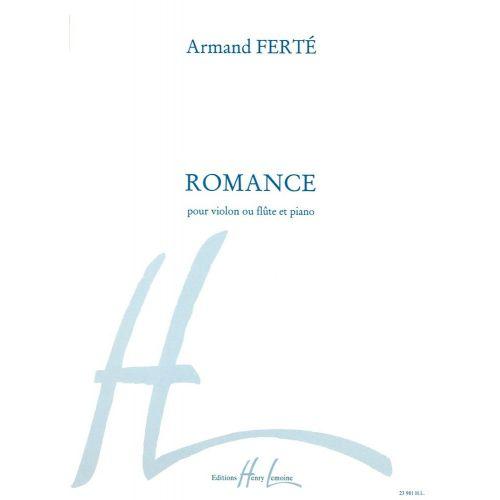 LEMOINE FERTE ARMAND - ROMANCE - VIOLON OU FLUTE, PIANO