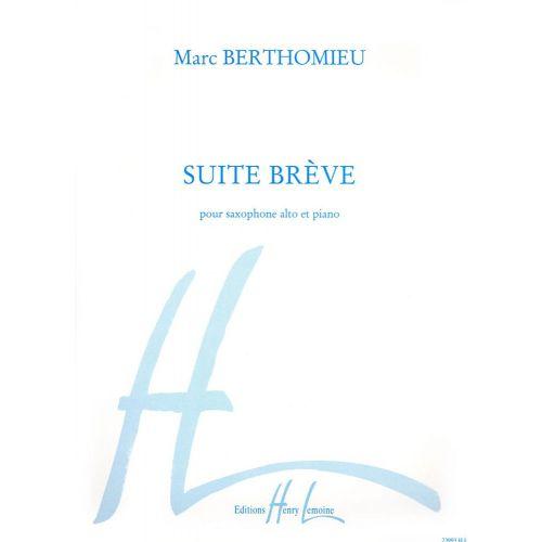 LEMOINE BERTHOMIEU MARC - SUITE BREVE - SAXOPHONE MIB, PIANO