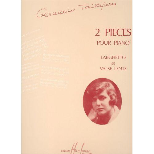 LEMOINE TAILLEFERRE GERMAINE - PIÈCES (2) - PIANO