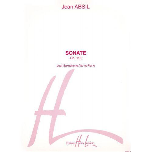 LEMOINE ABSIL JEAN - SONATE OP.115 - SAXOPHONE, PIANO
